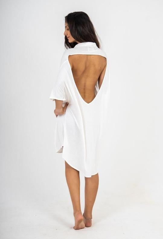 chemise blanche top crop